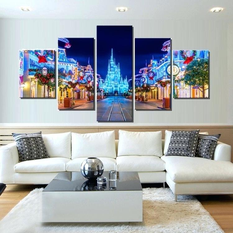 Current Disney Canvas Wall Art For Disney Canvas Wall Art Balloonon Frozen 4 Pack 570X428 Arresting (View 3 of 15)