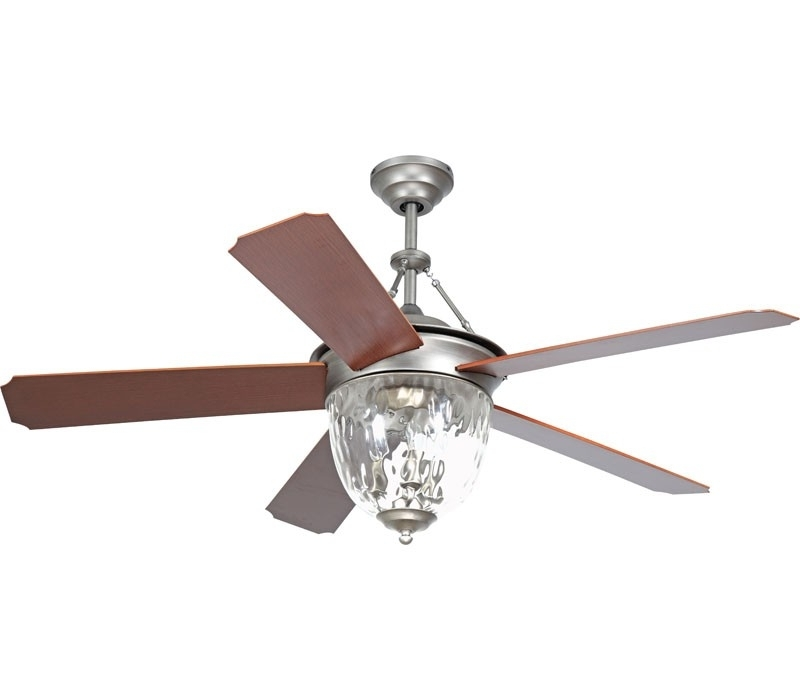 Current Ellington Outdoor Ceiling Fans In Ellington Cav52An5Lk Cavalier 52 Inch Antique Nickel Ceiling Fan (View 2 of 15)