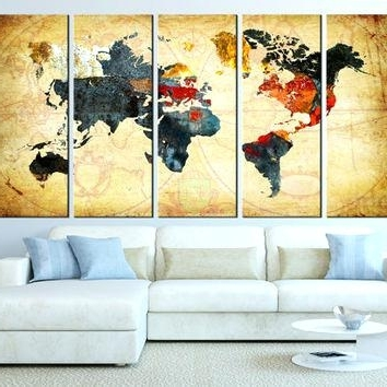 Current Extra Large Framed Wall Art Throughout Extra Large Canvas Wall Art World Map Canvas Art Print Old World Map (View 2 of 15)