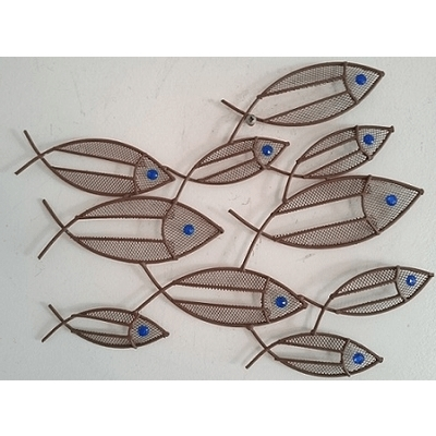 Current Fish Shoal Wall Art Within Awesome Contemporary Metal Wall Art Mini Fish Shoal Wall, Metal Wall (View 3 of 15)