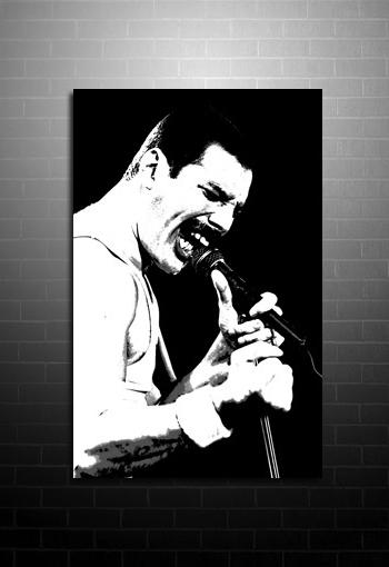 Current Freddie Mercury Canvas Art Throughout Freddie Mercury Wall Art (View 13 of 15)