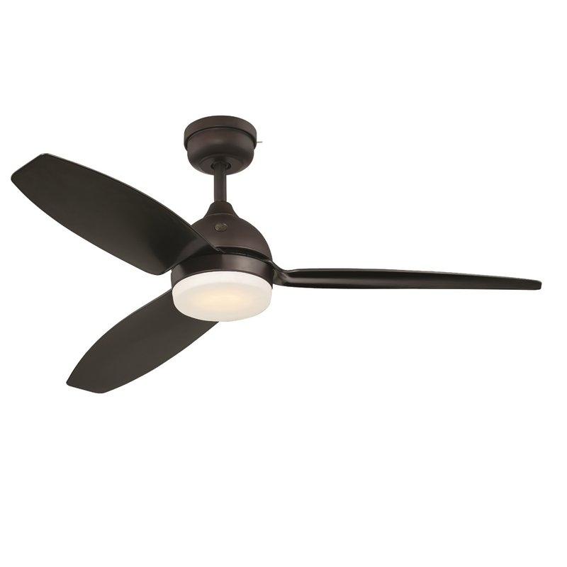 "Current Ge 54"" Skyplug Morgan 3 Blade Indoor/outdoor Ceiling Fan With Remote With Regard To Outdoor Ceiling Fans With Removable Blades (View 6 of 15)"