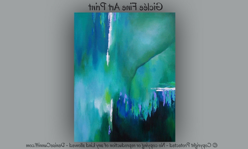 Current Green Abstract Wall Art With Regard To Large Abstract Wall Art Bedroom Decor Teal Home Decor Green Abstract (View 11 of 15)