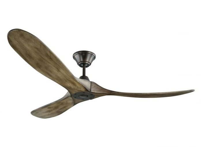 Current Grey Outdoor Ceiling Fans For Monte Carlo Maverick Fan In Aged Pewter W/ Grey Weathered Oak Blades (View 4 of 15)