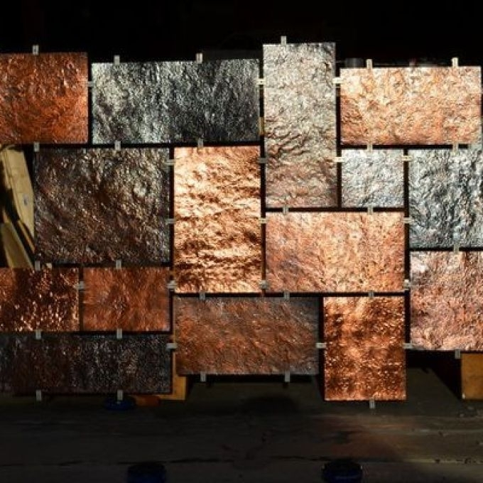 Current Hammered Metal Wall Art Intended For Hammered Copper Wall Art, Copper Metal Wall Art – The Beyer Foundation (View 1 of 15)