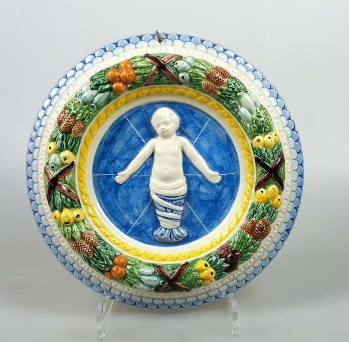 Current Italian Ceramic Wall Art Ceramic Wall Ornament In Style Italian For Italian Ceramic Wall Art (View 8 of 15)