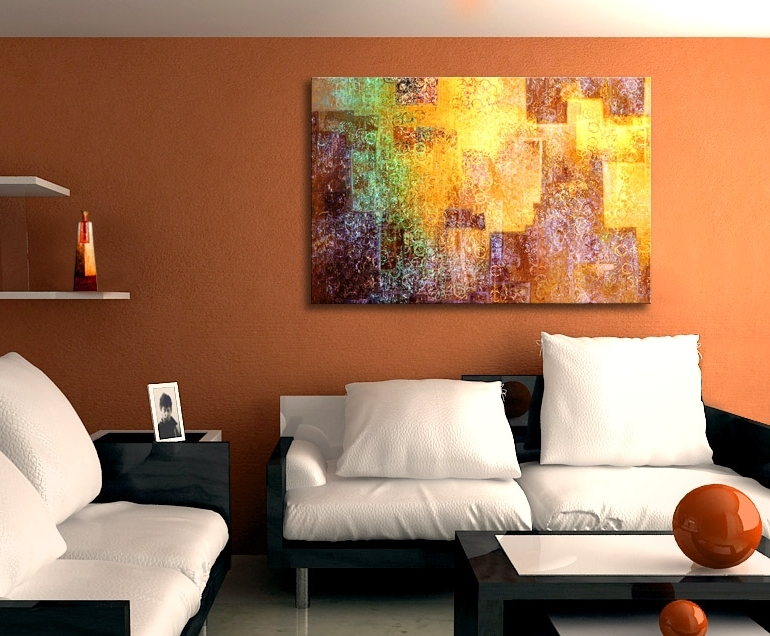 "Current Kingdom Within"" Abstract Canvas Art – Intended For Abstract Wall Art Prints (View 5 of 15)"