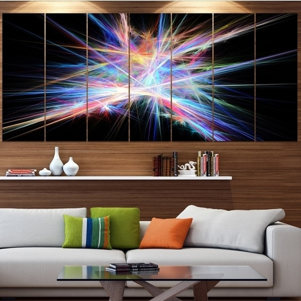 Current Light Abstract Wall Art With Regard To Shop Designart 'light Blue Spectrum Of Light' Abstract Wall Art On (View 5 of 15)