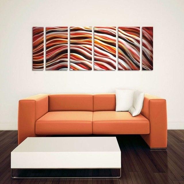 Current Original Abstract Aluminum Wall Art Metal Wall Painting Modern Throughout Abstract Aluminium Wall Art (View 4 of 15)