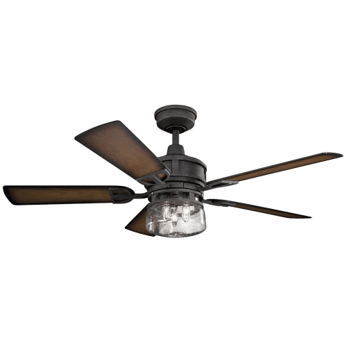 """Current Outdoor Ceiling Fans At Kichler In Kichler 310139Dbk Lyndon Patio 52"""" Outdoor Ceiling Fan With Light In (View 2 of 15)"""