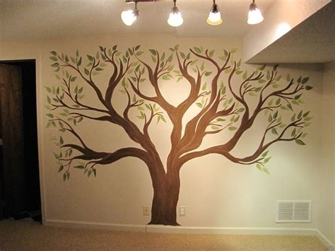 Current Painted Trees Wall Art For 2018 Latest Painted Trees Wall Art Wall Art Ideas, Painted Trees On (View 8 of 15)