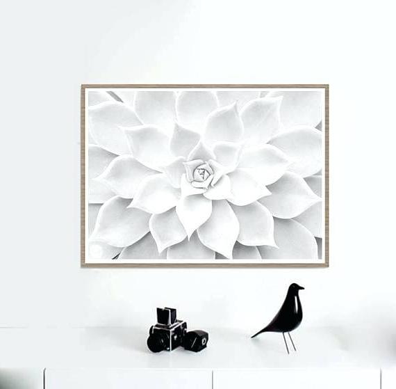 Current Prada Marfa Wall Art In Prada Marfa Canvas White Succulent Print Cactus Wall Art Prints (View 7 of 15)