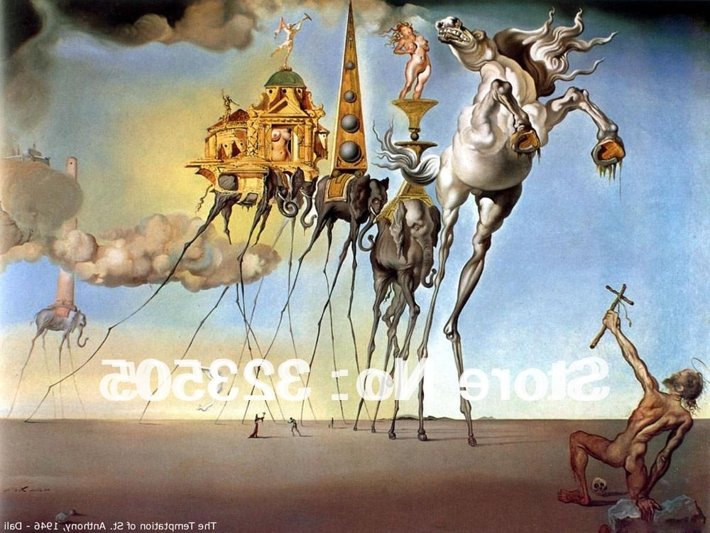 Current Salvador Dali Wall Art For 2018 Modern Surrealism Salvador Dali Famous Artwork Wall Art Oil (View 5 of 15)