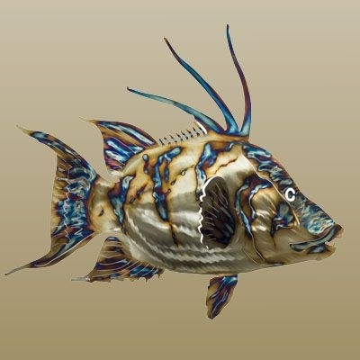 Current Stainless Steel Fish Wall Art throughout Metal Fish Art, Stainless Steel Sealife Sculptures, Metallic Fish