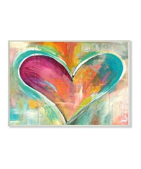 Current Stupell Industries Abstract Heart Painting Wall Art (View 10 of 15)