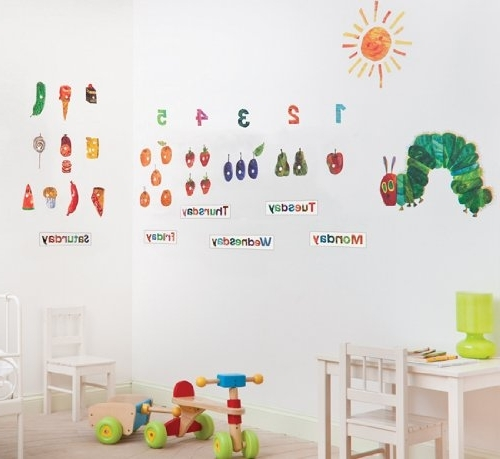 Current The Very Hungry Caterpillar Wall Art Intended For The Very Hungry Caterpillar Nursery And Playroom Wall Sticker Décor (View 4 of 15)