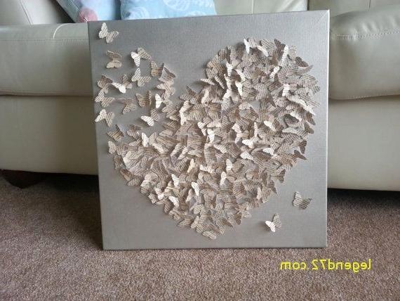 Current Top Result Diy 3D Canvas Wall Art Awesome 3D Butterfly Canvas Art With Butterfly Canvas Wall Art (View 6 of 15)