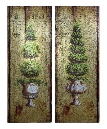 Current Topiary Wall Art – Set Of Two (View 4 of 15)