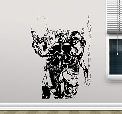 Current Video Game Wall Art Intended For Amazon: Punisher Deadpool Wall Vinyl Decal Marvel Superhero Wall (View 2 of 15)