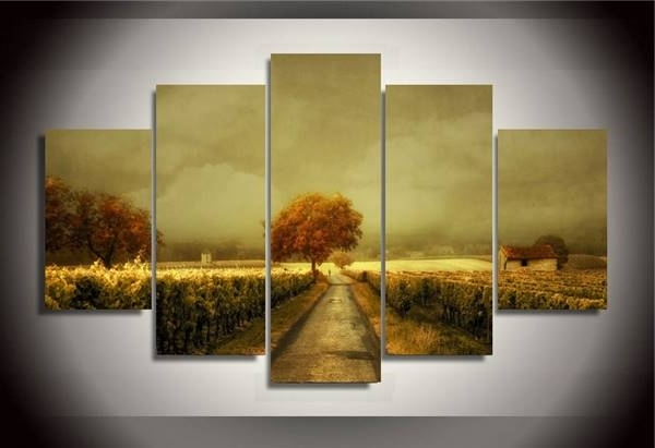 Current Vineyard Wall Art With Regard To Hd Printed Through The Vineyard Picture Painting Wall Art Room Decor (View 3 of 15)