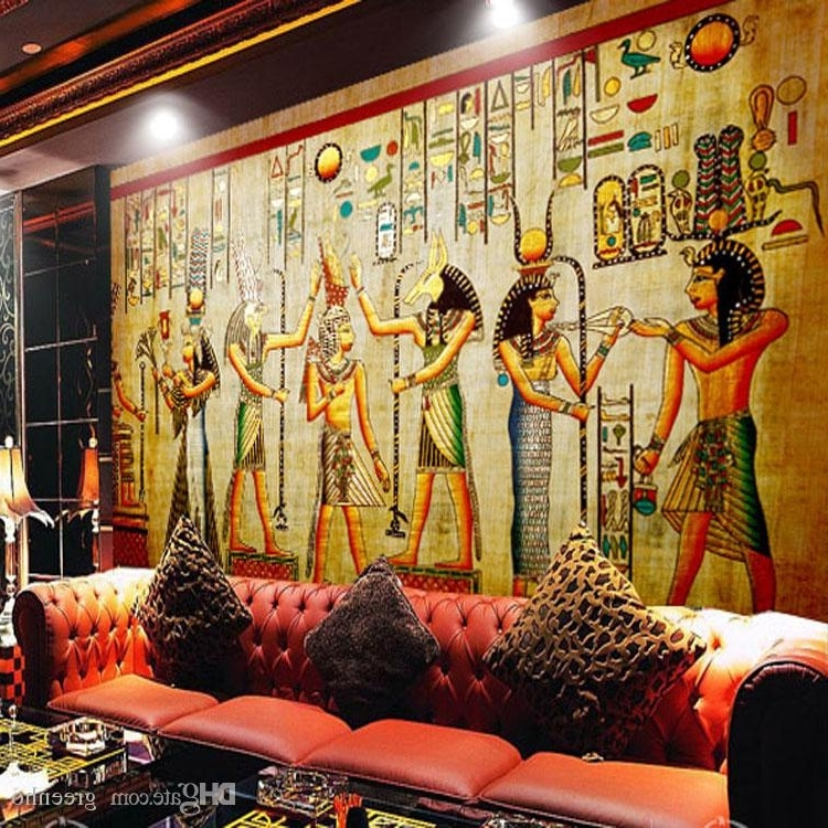 Current Vintage 3D Wall Art Throughout Egyptian Wall Painting Vintage Photo Wallpaper Custom 3D Wall Murals (View 14 of 15)