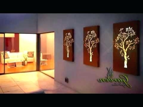 Current Wall Art With Lights Throughout Wall Decor Light Stylish Idea Wall Art With Lights Also Metal Garden (View 6 of 15)