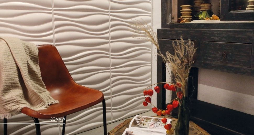 Current Waves 3D Wall Art For Waves Design – 3D Wall Panels & Decor (View 3 of 15)
