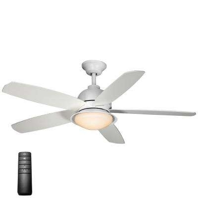 Current White Outdoor Ceiling Fans With Lights Regarding Minimalist – Outdoor – Ceiling Fans – Lighting – The Home Depot (View 5 of 15)