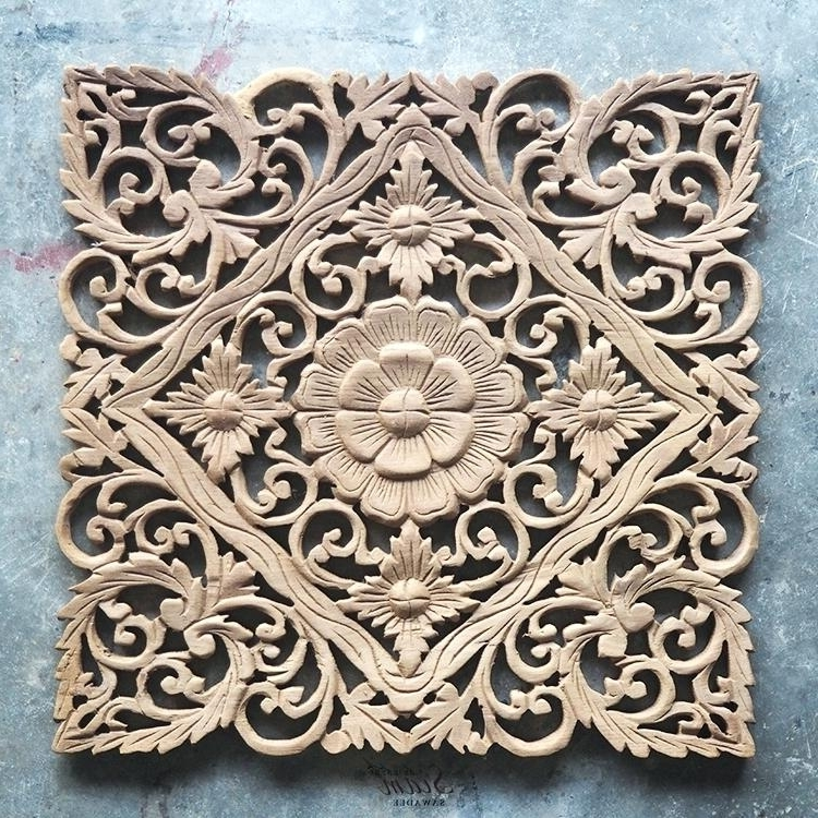 Current Wood Wall Art Panel Lotus Carved Wood Wall Art Panel From Panels Pertaining To Wood Carved Wall Art Panels (View 5 of 15)