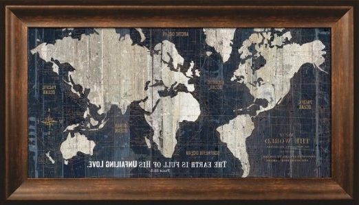 Current World Map Prints Wall Art – Chatta Artprints With Framed World Map Wall Art (View 4 of 15)