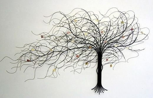 Current Wrought Iron Tree Wall Art Wall Art Decor September Dead Metal Tree Intended For Wrought Iron Tree Wall Art (View 3 of 15)