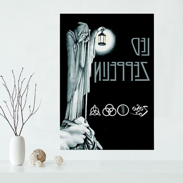 Custom Canvas Poster Led Zeppelin Canvas Painting Poster New Arrival In 2017 Led Zeppelin 3D Wall Art (View 5 of 15)