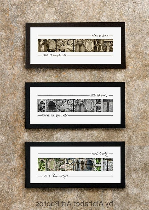 Custom Name Sign, Last Name Sign, Family Name Sign, Last Name Intended For Most Popular Last Name Framed Wall Art (View 4 of 15)