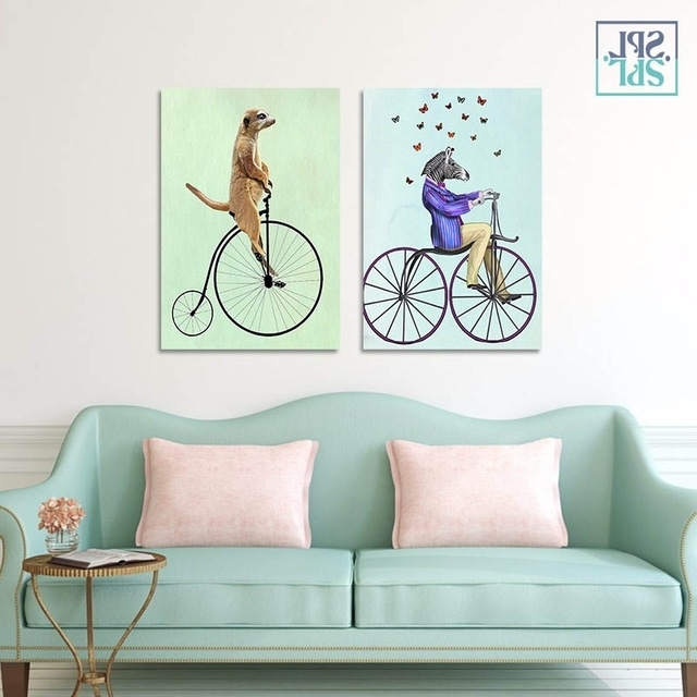 Cycling Wall Art Intended For Well Liked Splspl Frameless Home Decoration Picture Animals Cycling Wall Art (View 4 of 15)