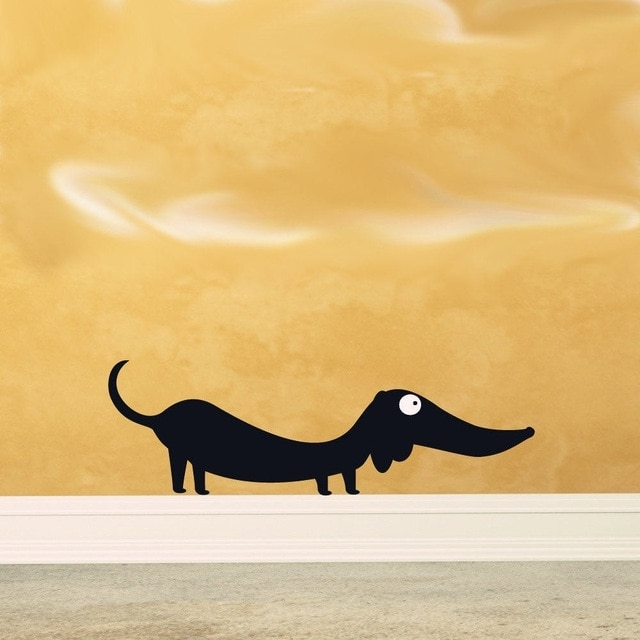 Dachshund Vinyl Animal Wall Art,funny Doxie Doxy Weiner Sticker For With Most Recently Released Dachshund Wall Art (View 11 of 15)