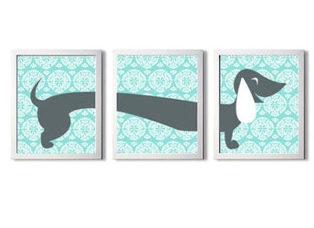 Dachshund Wall Art Inside Current Best Dachshund Wall Art Products On Wanelo, Dachshund Wall Art (View 4 of 15)