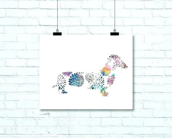 Dachshund Wall Art Prints Print Sausage Dog Living Room Decor Throughout Most Up To Date Dachshund Wall Art (View 7 of 15)