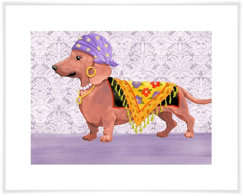 Dachshund Wall Art Regarding Favorite Gypsy Dachshund, Dogs & Cats Canvas Wall Art (View 3 of 15)