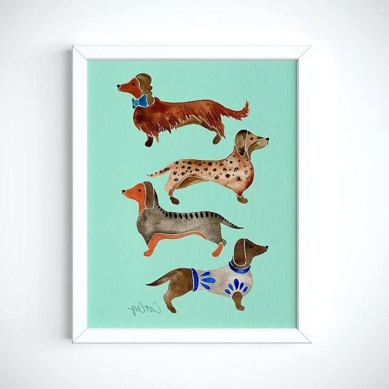 Dachshund Wall Art With Regard To Most Recent Dachshund Wall Art Dachshund Wall Art Australia – Dannyjbixby (View 10 of 15)