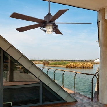 Damp Rated Outdoor Ceiling Fans For Most Current Outdoor Ceiling Fans Without Lights Are Damp & Wet Rated For Indoor (View 3 of 15)