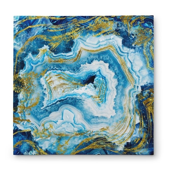 Dark Blue Abstract Wall Art Intended For Famous Abstract Wall Art You'll Love (View 4 of 15)
