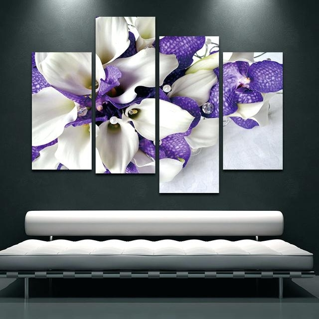 Dark Purple Wall Art Wall Art Painting Pictures Print On Canvas Intended For Most Current Dark Purple Abstract Wall Art (View 3 of 15)