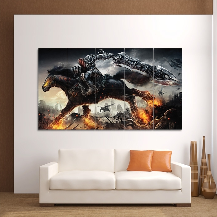 Darksiders Video Game Block Giant Wall Art Poster Pertaining To Popular Video Game Wall Art (View 3 of 15)