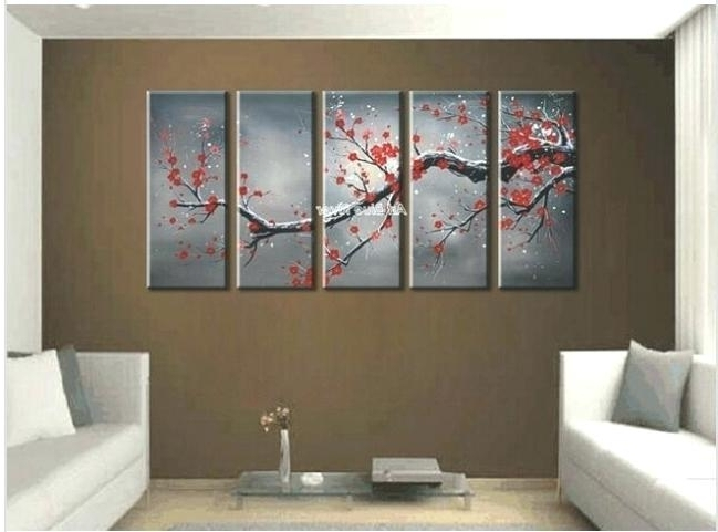 Decoration: Canvas Wall Art Cheap Abstract Decor Red Cherry Blossom For Current Cheap Abstract Wall Art (View 13 of 15)