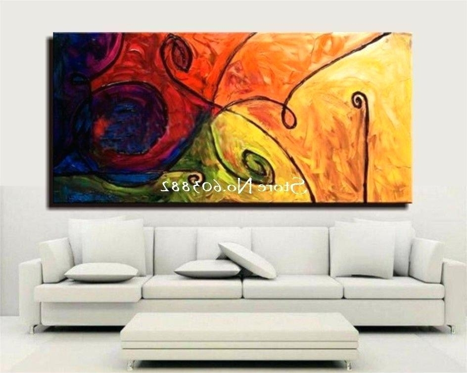 Decoration: Discount Handmade Large Canvas Wall Art Abstract With Regard To Best And Newest Diy Abstract Canvas Wall Art (View 2 of 15)