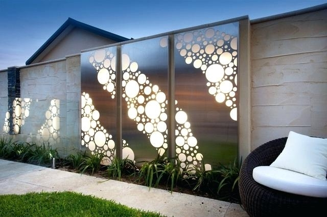 Decoration: Exterior Wall Decor Pertaining To Trendy Contemporary Outdoor Wall Art (View 11 of 15)