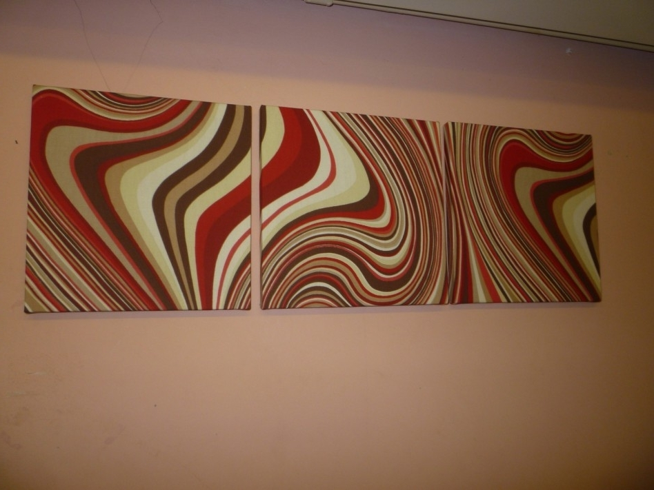 Decoration Ideas: Magnificent Reddish Abstract Fabric Wall Art And Throughout Well Known Abstract Fabric Wall Art (View 6 of 15)