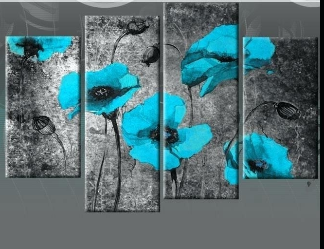 Decoration: Wall Art Designs Duck Egg Blue Canvas Heaven With Regard In Latest Turquoise And Black Wall Art (View 3 of 15)