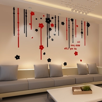 Decorative 3D Wall Art Stickers Pertaining To Newest Cheap 3D Stickers, Find 3D Stickers Deals On Line At Alibaba (View 6 of 15)