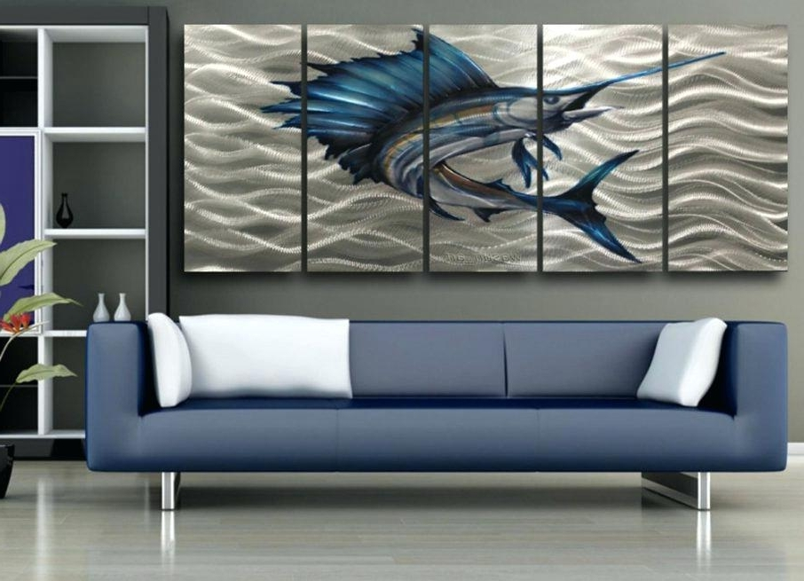 Decorative Metal Fish Wall Art Metal Fish Wall Art For Living Room Pertaining To Newest Abstract Metal Fish Wall Art (View 10 of 15)